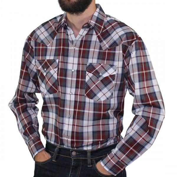 Impala Long Sleeve 2pkt Western Shirt Burgundy