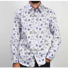 John Lennon By English Laundry Long Sleeve Gabriel Cotton Shirt-front