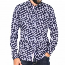 James Harper Long Sleeve Feather Shirt-Front