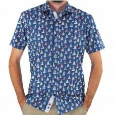 Thomson & Richards Short Sleeve Balmain Boat Shirt Front