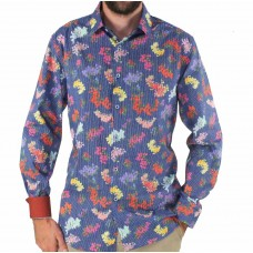 Cutler & Co Long Sleeve Floral Cotton Shirt Front