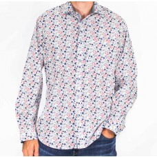 Perrone Long Sleeve Floral Print Shirt-front