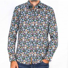 Sugar Long Sleeve Tree Printed Shirt-front