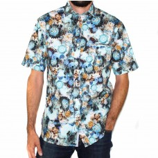Berlin Short Sleeve Floral Printed Shirt-Front