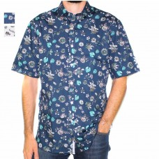 Berlin Short Sleeve Botanical Shirt-Hero