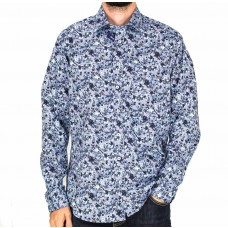Abelard Long Sleeve Floral Toile Shirt-front