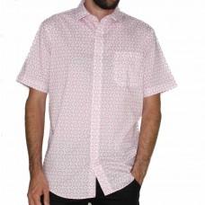 Bridgeport Short Sleeve Red Shirt-FRONT