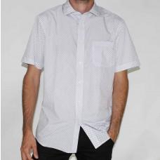 Bridgeport Short Sleeve White Shir-FRONT