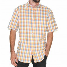 Perrone Short Sleeve Lino Check Shirt-Front