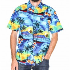 Coast Highway Short Sleeve Bright Beach Shirt-Front