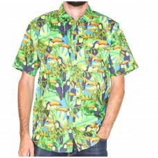 Coast Highway Short Sleeve Tucan Shirt-Front