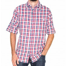 Bisley Short Sleeve Cotton Check Shirt-Front
