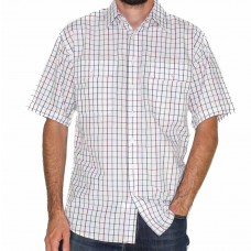 Bisley Short Sleeve Medium Checks White Shirt-Front
