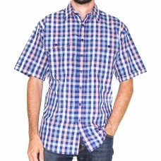 Bisley Short Sleeve Medium Checks Shirt-Front