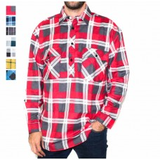 Ritemate Long Sleeve Closed Front Flannelette Shirt-Hero