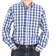 Perron Long Sleeve Checked Shirt-front
