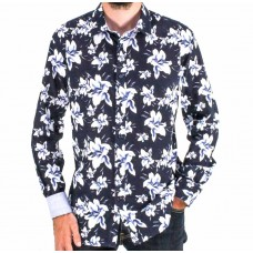Cutler & CO Long Sleeve Flower Cotton Shirt Front