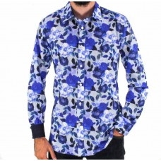 Cutler & Co Azure Cotton Long Sleeve Shirt Front