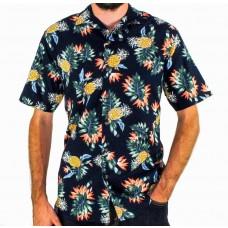 Berlin Short Sleeve Pineapple Cotton Shirt Front