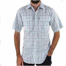 Gloster Green Short Sleeve Cotton Shirt Front