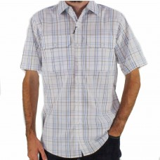 Gloster Sky Short Sleeve Cotton Shirt Front