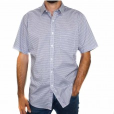 Perrone Short Sleeve Cotton Blend Print Shirt-Front