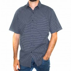 Perrone Arly Cotton Print Short Sleeve Shirt-Front