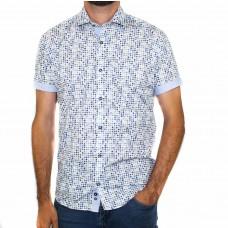 Thomson & Richards Short Sleeve Pebble Print Shirt-Front