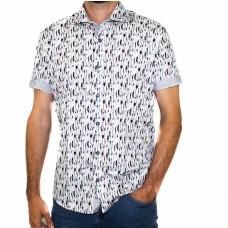 Thomson & Richards Short Sleeve Feather Shirt-Front