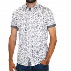 Thomson & Richards Short Sleeve Beetle Print Shirt-Front