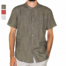 Braintree Hemp Short Sleeve Stripe Shirt-Hero