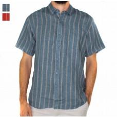 Braintree Hemp Short Sleeve Dress Stripe Shirt-Hero