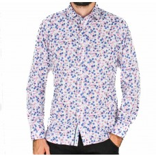 James Harper Long Sleeve Ditsy Floral Shirt- front