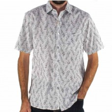 Berlin Abstract Short Sleeve Shirt Front