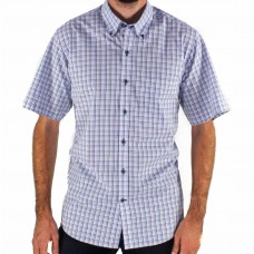 Ganton Melvon Checked Short Sleeve Shirt Front