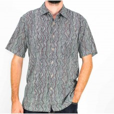 Kingston Grange Short Sleeve Bamboo Dreamingseed Shirt Front