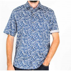 Berlin Short Sleeve Flax Shirt Front