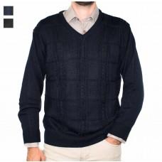 Ansett Tradewinds Wool Blend Vneck Pullover -Hero