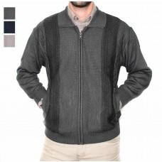 Ansett Tradewinds Wool Blend Zip Cardi-Hero