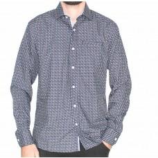 Berlin Long Sleeve Paisley Shirt-Front