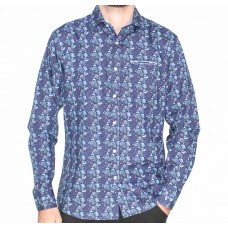 Berlin Long Sleeve Lennon Print Shirt- Front
