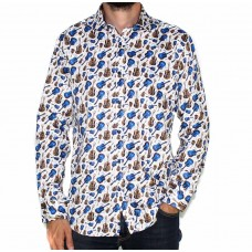Ak Demire Long Sleeve Guitar Print Shirt-FRONT