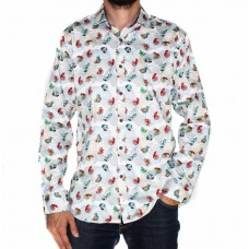 Ak Demire Long Sleeve Fish Shirt-FRONT