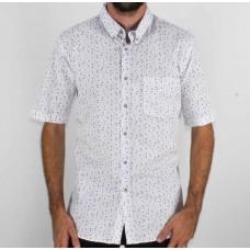 Stafford Ellinson Short Sleeve Flower Print Shirt front