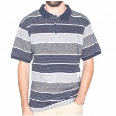 Bertini Short Sleeve Cotton Stripe Polo-Front