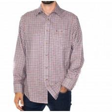 Vonella Long Sleeve Cotton Blend Check Shirt-FRONT