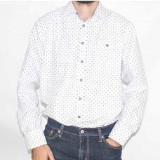 Portobello Long Sleeve Print Shirt-Front