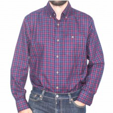 Lifestyle Long Sleeve Red Brush Check Shirt-Front