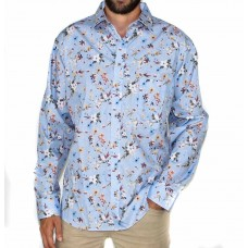 Abelard Long Sleeve Floral Cotton Shirt-Front