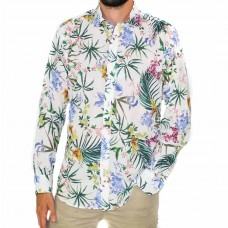 Abelard Long Sleeve Orchid Printed Shirt-Front